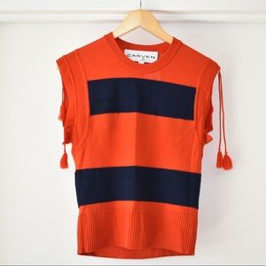 Carven striped sweater tank